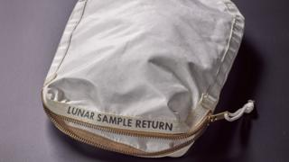 Bag used to take moon dust back from Apollo 11 mission
