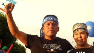Alberto Curamil, a member of Chile's Mapuche community