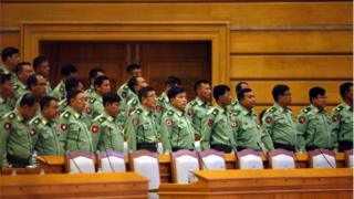 လွှတ်တော်က စစ်တပ်ကိုယ်စားလှယ်တွေ
