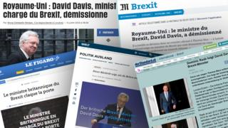 Combination photo of the online editions of EU newspapers