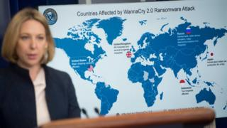 Jeanette Manfra, chief cybersecurity official for the Department of Homeland Security (DHS), speaks about the Wannacry virus