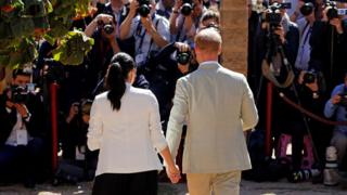The Duke and Duchess of Sussex in Rabat, Morocco, February 2019