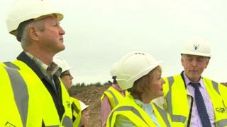 A group of 20 potential investors were show around a Swansea Valley turbine scheme