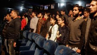 зрители в кинотеатре штата Джамму