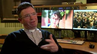 Fr Martin Magill talked to BBC News NI about his funeral address