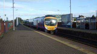train at Chorley station
