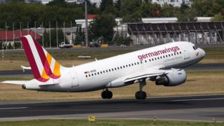 An airplane belonging to the airline Germanwings, Lufthansa's low-cost carrier, takes off on September 9, 2015 in Berlin, Germany.