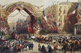 Queen Victoria's entry into Paris, 18 August 1855 by Eugène-Charles-François Guérard