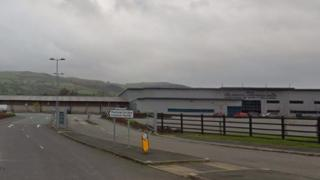 The incident happened near Welshpool cattle market
