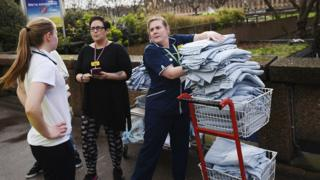 Nurses helping out after the Westminster Bridge attack