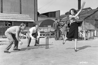 Brighton Rock (1947) , Carol Marsh playing cricket