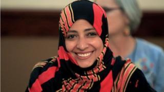 فازت كرمان بجائزة نوبل للسلام لدورها في المظاهرات في اليمن إبان انتفاضات الربيع العربي عام 2011