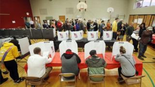 Eleitores em Kent, Ohio