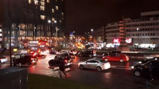 Birmingham City Centre gridlock