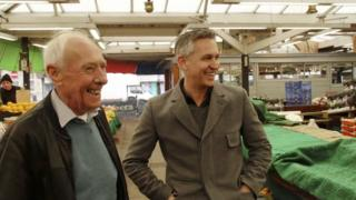 Barry and Gary Lineker at Leicester Market
