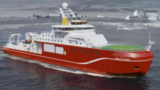 Artist's impression of ship