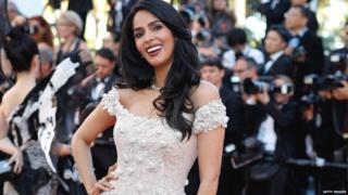 Mallika attends the 70th Annual Cannes Film Festival