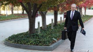 Scott Morrison - Australian Treasurer at Parliament House on Monday
