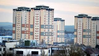 Tower blocks in Motherwell