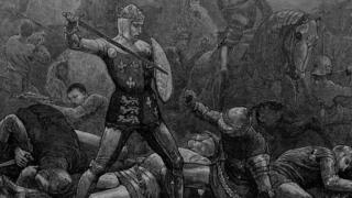 King Henry V pictured at the Battle of Agincourt in 1415