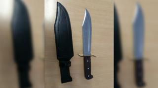 The knife found by police