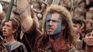 hollywood Mel Gibson in Braveheart