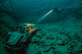 Marcus Blatchford's picture of a submerged car and diver