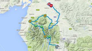 Tour of Britain route