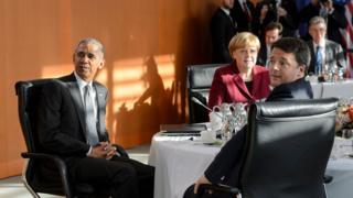 Обама, Меркель и Ренци