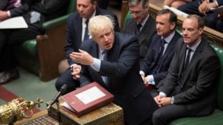 Boris Johnson speaks in the House of Commons