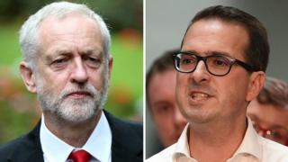 Jeremy Corbyn and his rival Owen Smith