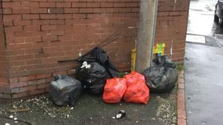 Fly-tipping has blighted Shotton streets
