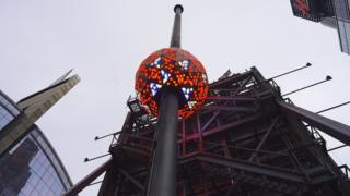 Ball in Times Square that does the ball drop on New Year's Eve
