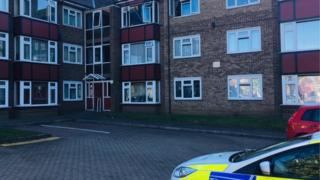 The flats where the fire was at Fitzgerald Court, Ipswich