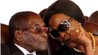 Zimbabwe na mkewe Grace MUgabe