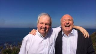 Seamus Kelters, with friend and colleague, Mervyn Jess