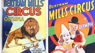 Bertram Mills Circus posters