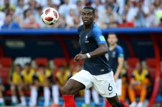Paul Pogba of France during the 2018 FIFA World Cup Russia Round of 16 match between France and Argentina at Kazan Arena on June 30, 2018 in Kazan, Russia.