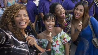 L to R: Queen Latifah, Jada Pinkett Smith, Tiffany Yaddish and Regina Hall