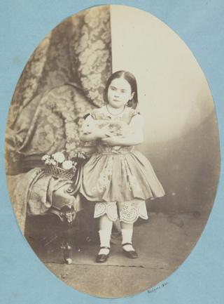 Esther Adamson with rabbit 1860