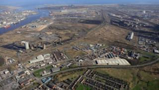 Aerial shot of the former SSI site