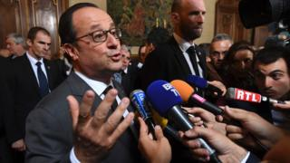 Олланд и журналисты