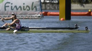 Mahe Drysdale and Damir Martin in sculls final