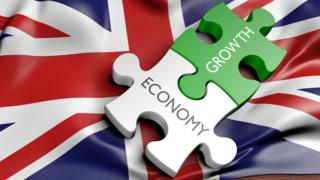 British flag graphic with the words Economy and Growth