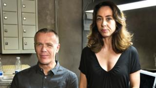 Morten Suurballe and Sofie Grabol in the hit danish series The Killing