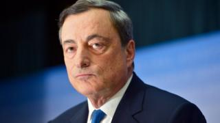Mario Draghi, President of the European Central Bank in 2014 in Frankfurt, Germany.