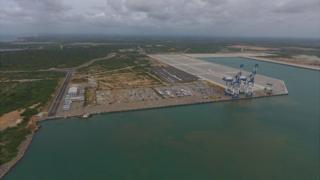 Hambantota port from above