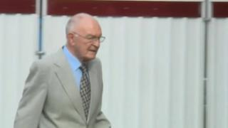 George Granville Gibson entering court ahead of a a previous day's hearing