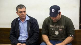 Schlomo Filber, left, an aide to Israeli PM Netanyahu - Filber is reported to have agreed to testify against him, 21 February, 2018
