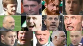 Images of men Police Scotland want to trace in connection with disorder at Cup Final